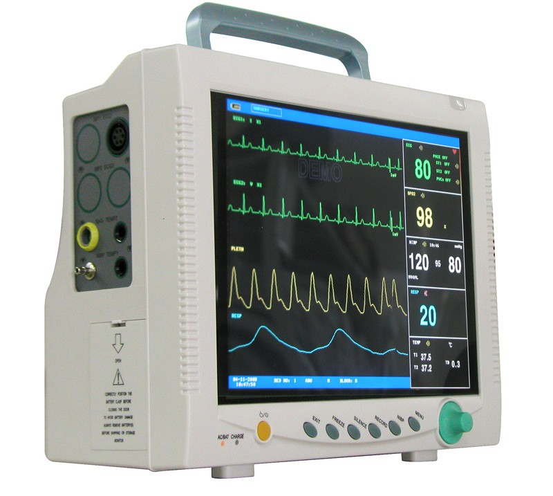 CE Approved contec CMS 7000  Multi-parameter Patient Monitor  holter medical equipment ECG, SPO2, RESP, NIBP, TEMP, Pulse Rate btl cardiopoint holter h100