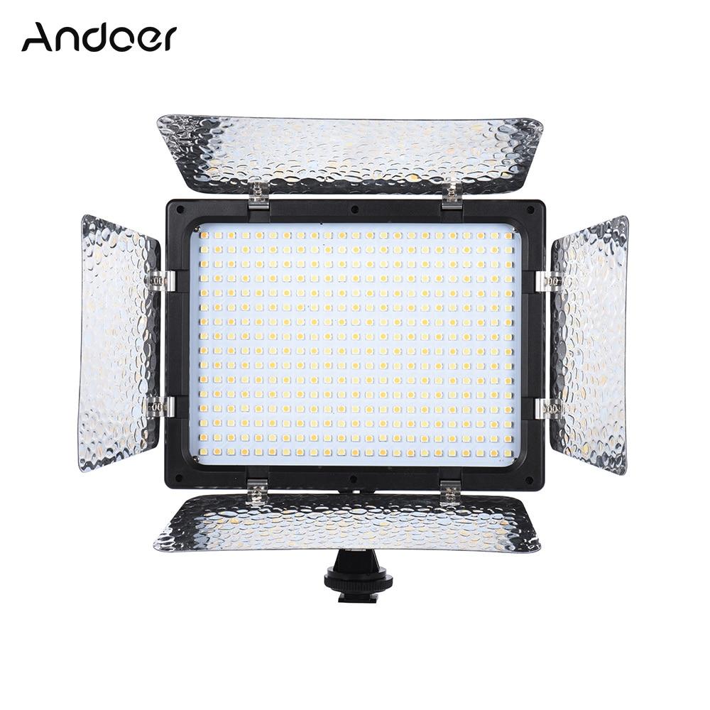 Andoer W368 II double couleur température LED lumière vidéo 3200 K 6000 K luminosité réglable photographie lumière 368 LED panneau lumineux-in Éclairage photographique from Electronique    1
