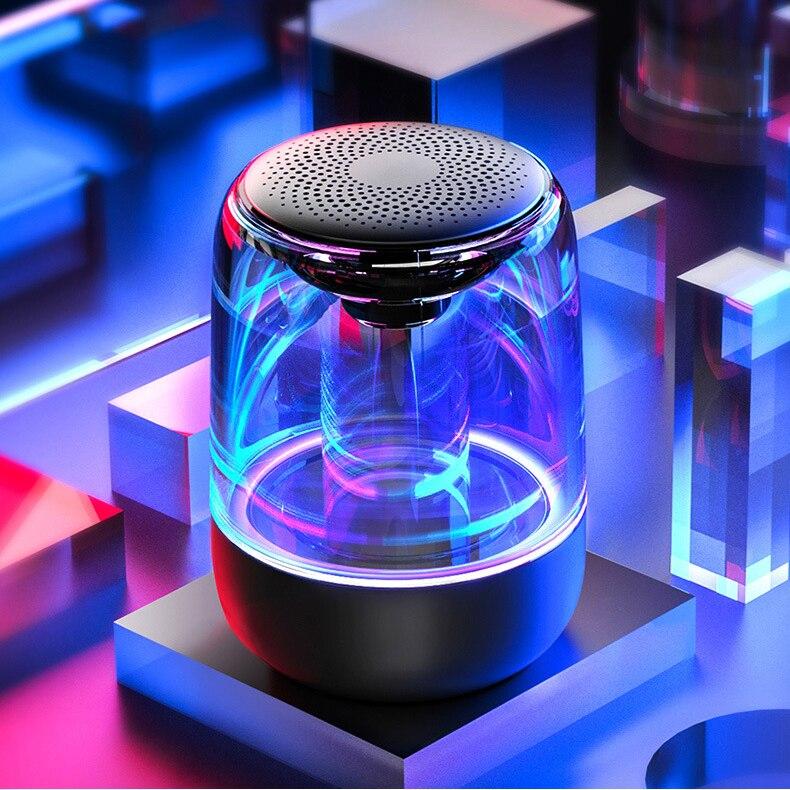 HANTOPER Colorful LED Lights Bluetooth Speaker