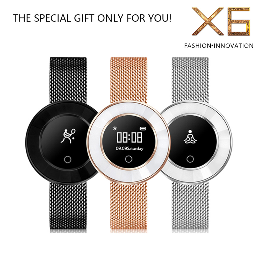 TOP fashion smart watch Steel strap Heart rate Pedometer Calorie Successful women wear Smartwatch Wristwatch with Retail box color screen smart watch men woman heart rate pedometer 2018 new top stainless steel strap smartwatch wristwatch