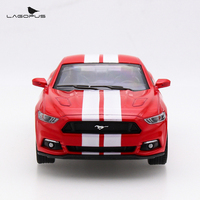 High Simulation 1 38 Ford Mustang GT Alloy Pull Back Model Cars Two Door Sports Car