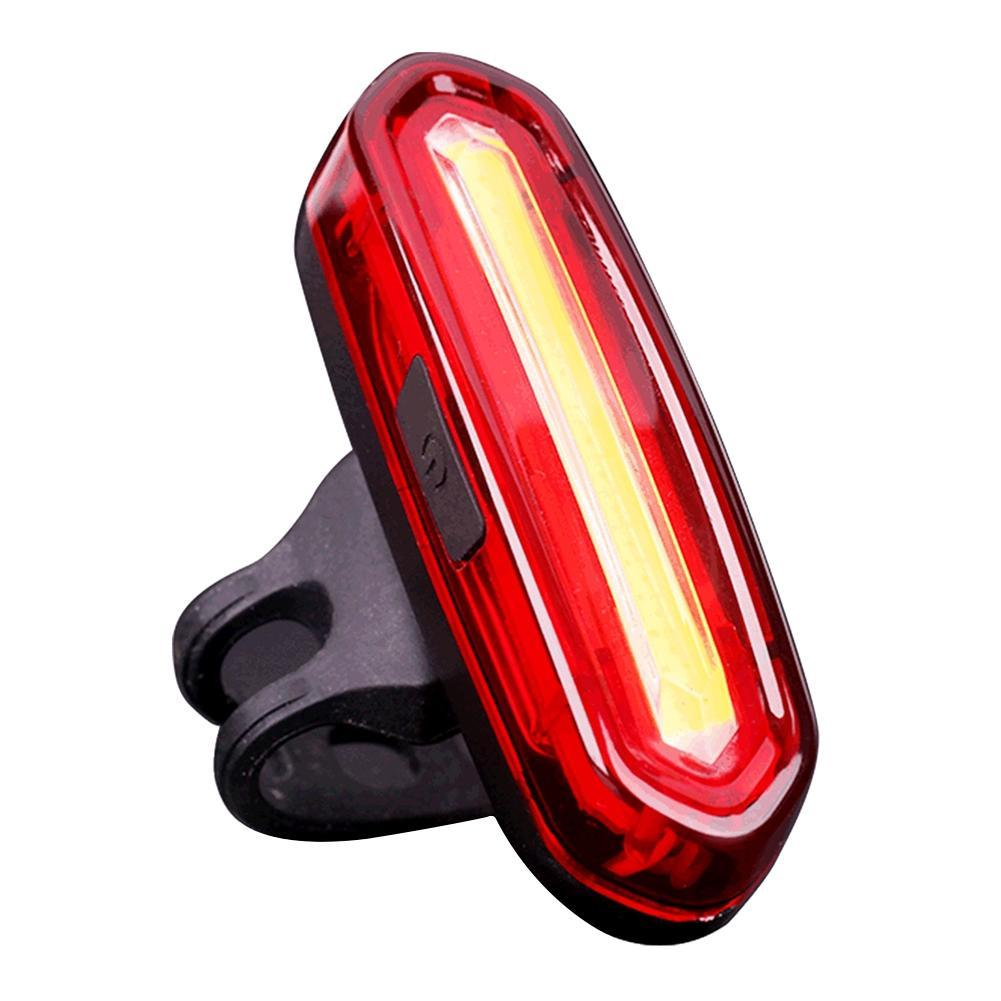 цена на Light Light IP67 Warning Bike Rechargeable LED COB Comet Rear light Safety Lamp Tail Cycling Bycicle Bicycle USB Taillight