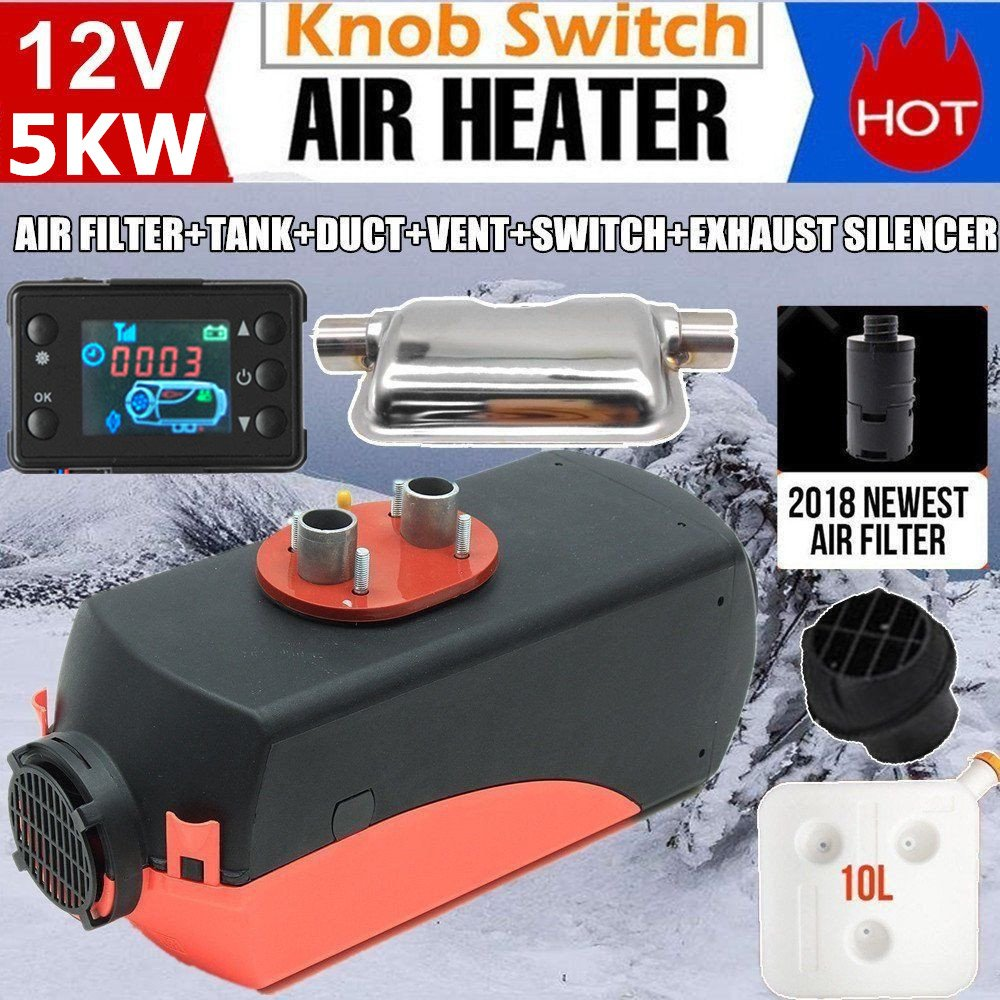 5 кВт красный с одним отверстием нагреватель воздуха стояночный обогреватель поворотный переключатель ЖК переключатель и цифровой переклю