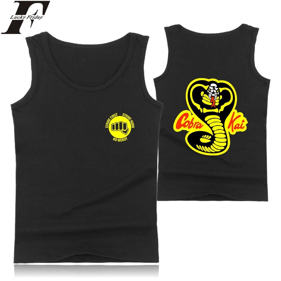 Hip Hop LUCKYFRIDAYF Cobra Kai   Tank     Tops   Women/Men TV Show Clothes Style Casual Women/Men Fashion Summer   Tank     Top   Clothes Tees