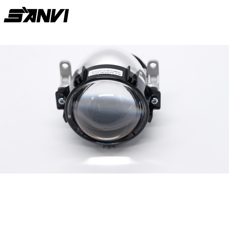 SANVI LED Projector Lens Headlight with Mask Angel Eye 35W 40W 6000K 3 Inch LED Headlight Retrofit Kit Car-styling high quality new car led headlight with ballast mask angel eye 35w 6000k car led projector lens headlight