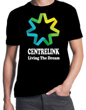 Centrelink Living The Dream Funny Aussie Straya Bogan Colour Logo Black T-Shirt Summer T Shirt Brand Fitness Body Building