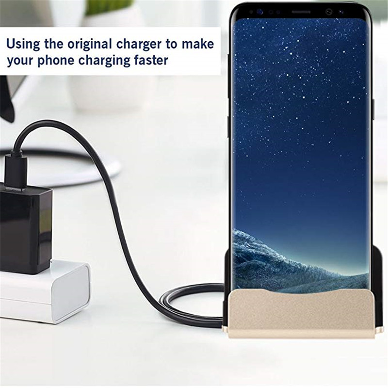 Type-C Dock Desktop <font><b>Charger</b></font> Station For <font><b>Samsung</b></font> Galaxy S10 Plus S10e M20 M30 A50 A30 <font><b>A9</b></font> Pro 2019 Fold Dock Desktop image
