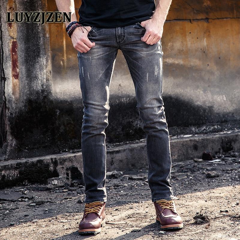 Men Denim Pants Mid-weight Straight Slim Male Jeans 2017 New Arrival Pants Casual Style Men Light Black Jeans 41