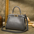 2017 Autumn Fashion Women Leather Handbags Large Capacity Tote Bag Leather Shoulder Bag Crossbody Bags For Women HANDBAG GREY
