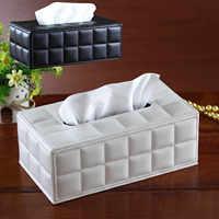 Behogar boîte à mouchoirs en papier couverture en cuir PU hôtel voiture Rectangle conteneur serviette serviette porte-étui à mouchoirs fournitures de bureau à domicile