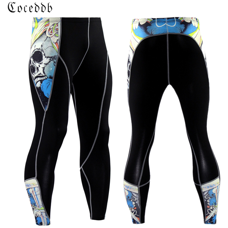 2017 New Mens Compression Track Pants High Stretch Men Joggers Tights Men Pants Weight L ...