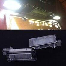 CITALL 1 paia 2 Spille 18 Numero di Licenza LED Piastra Lampada Della Luce adatta per Renault Espace MK4 Scenic Laguna 8200013577