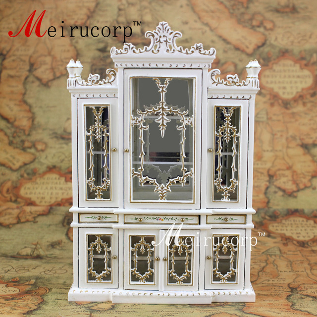 Poppenhuis 1:12 schaal miniatuur meubels handgeschilderde eetkamer ...