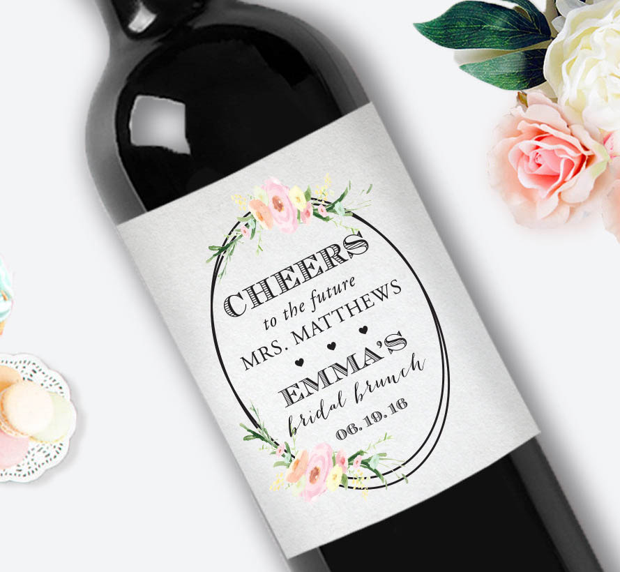 Customized Cheers Wedding Personalized Wine Bottle Labels ...