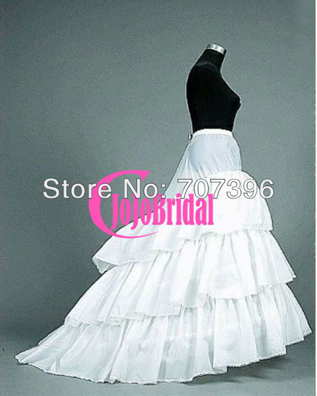 Good Quality And Price 3 Layers Tulle 3 Hoops Long Train Ball Gown ...