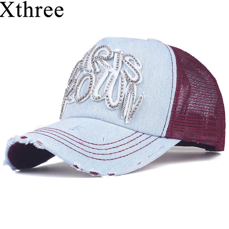 Xthree fashion women's mesh baseball cap for girl summer cap snapback Hat for men bone gorra casquette fashion hat xthree summer baseball cap snapback hats casquette embroidery letter cap bone girl hats for women men cap