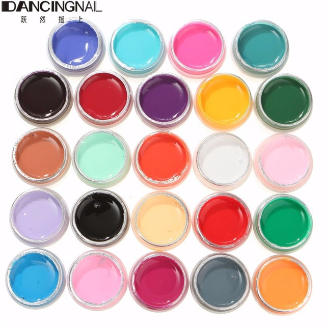 24 Colors/Set Pure Color UV Nail Gel Polish Extension Professional DIY Nail Gel Art Tips Decorations Tools Manicure Nail Polish
