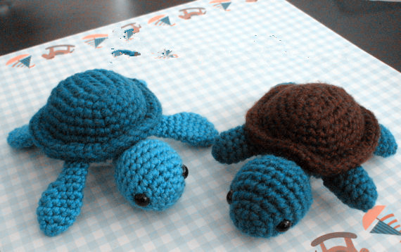 Amigurumi Crochet Animal Turtle For Girls And Boys Use Toy -3355