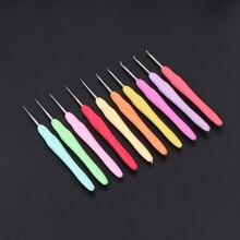 1 шт. металлические спицы для вязания крючком Крючки инструмент с эргономичные ручки 0,5-2,75 мм