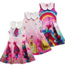 2018 Trolls Dress Children Clothing Summer sleeveless
