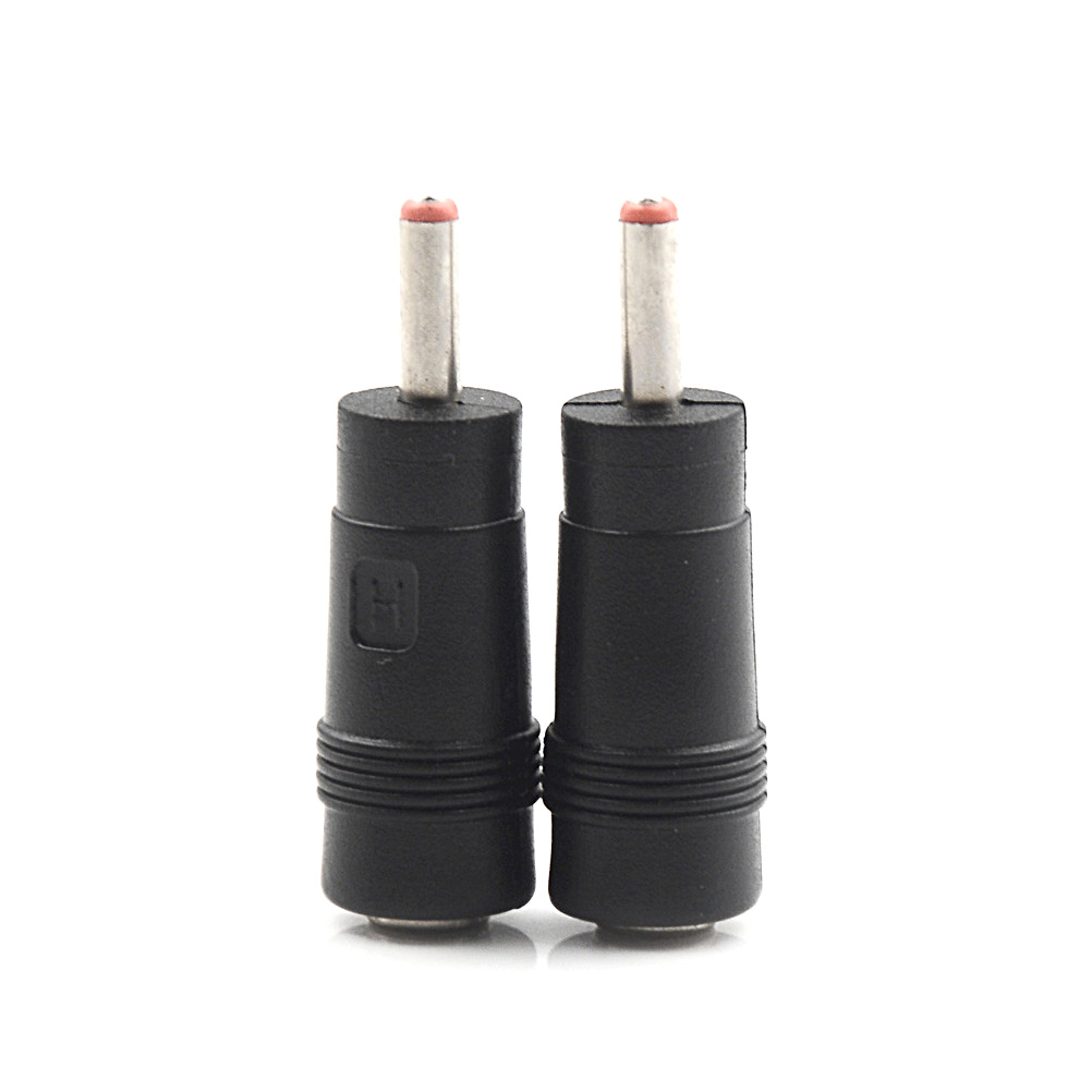 2pcs DC Power Plug Connector Socket Adapter  5.5*2.1  Female To 3.5*1.35mm Male Lighting Accessories