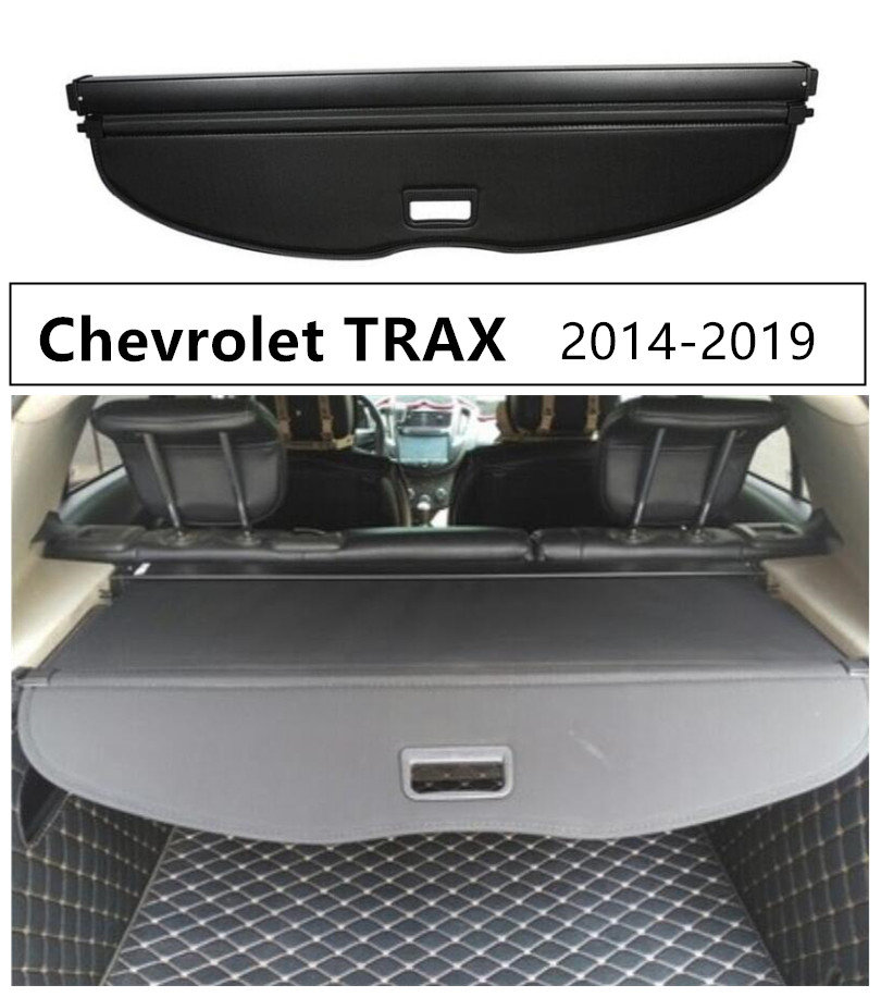 Rear Trunk Cargo Cover Security Shield For Chevrolet TRAX 2014 2015 2016 2017 2018 2019 High Qualit Auto Accessories Black Beige
