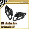 Para Porsche 2007-2010 997 Turbo & GT2 Turbo Lado da Entrada de Ar De Fibra De Carbono Colher Estilo Do Carro