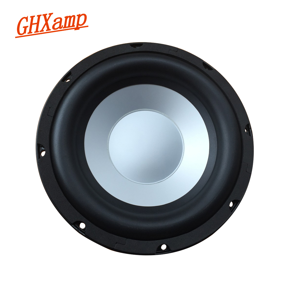 GHXMAP 10 Inch Subwoofer Passive Radiator Speaker Auxiliary Bass Vibration Woofer Radiation Basin Aluminum Frame Rubber 2PCS