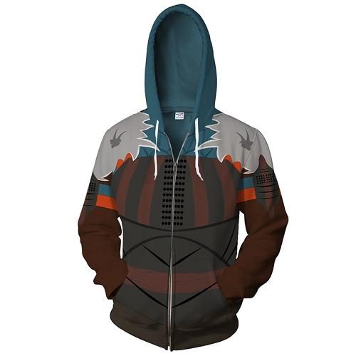 Bianyifang 2018 New Super Villain Zipper Hooded Sportswear American Size Black Panther New Fashion 3d Printing Sportswear Shirt Men's Clothing