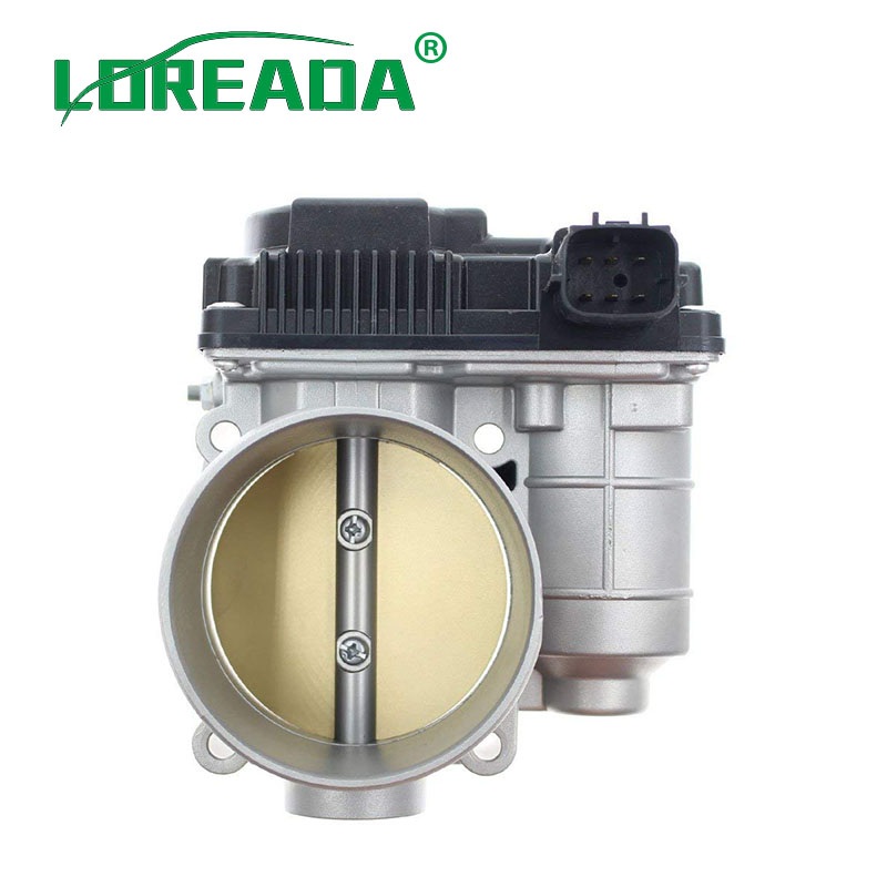 цена на LOREADA 70mm Throttle Body 161198J103 161198J10C For Nissan Maxima Quest Murano 350Z Altima 3.5L Infiniti FX35 M35 G35 I35 3.5L