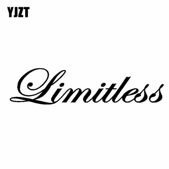 YJZT 14.7CM*3.5CM Limitless Funny Stance Turbo Boost Car Sticker Vinyl decals Black Silver C10-00864 image