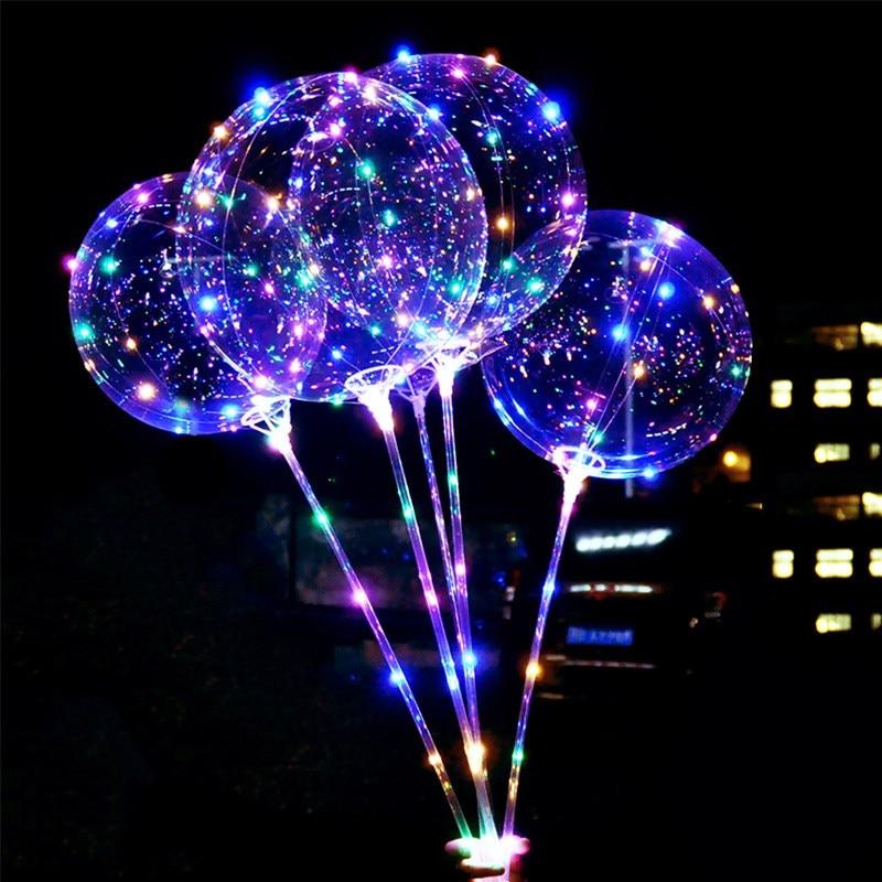 20/'/' Light Up Balloons Luminous Glow In The Dark Wedding Birthday Party Decor