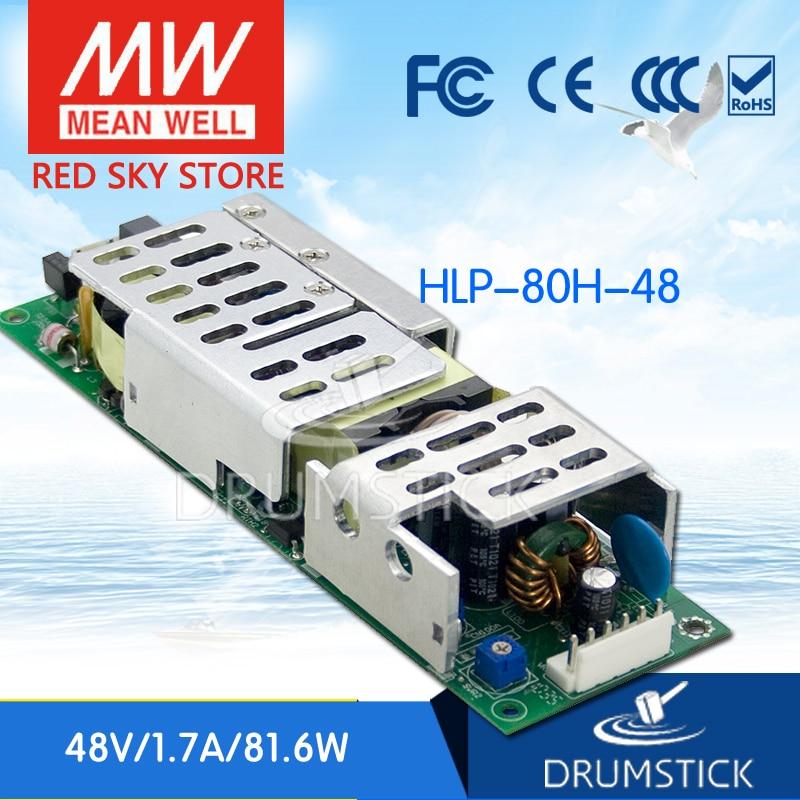 цена на MEAN WELL HLP-80H-48 48V 1.7A meanwell HLP-80H 48V 81.6W Single Output LED Driver Power Supply