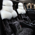Special fur car seat covers For Peugeot 307 206 308 407 207 406 408 301 3008 5008 508 2008 208 car accessories car styling black