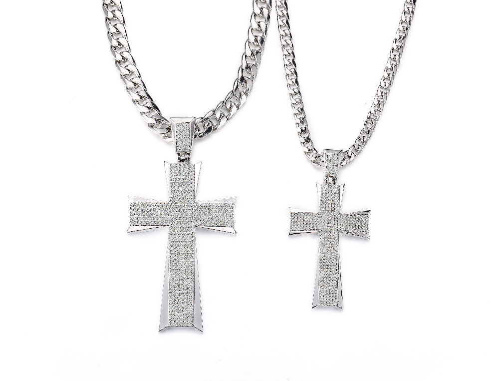 Dressup fashion jewelry large cross pendant necklace micro pave iced dressup fashion jewelry large cross pendant necklace micro pave iced out crystal hip hop pendant with link chain free shipping in pendant necklaces from aloadofball Gallery