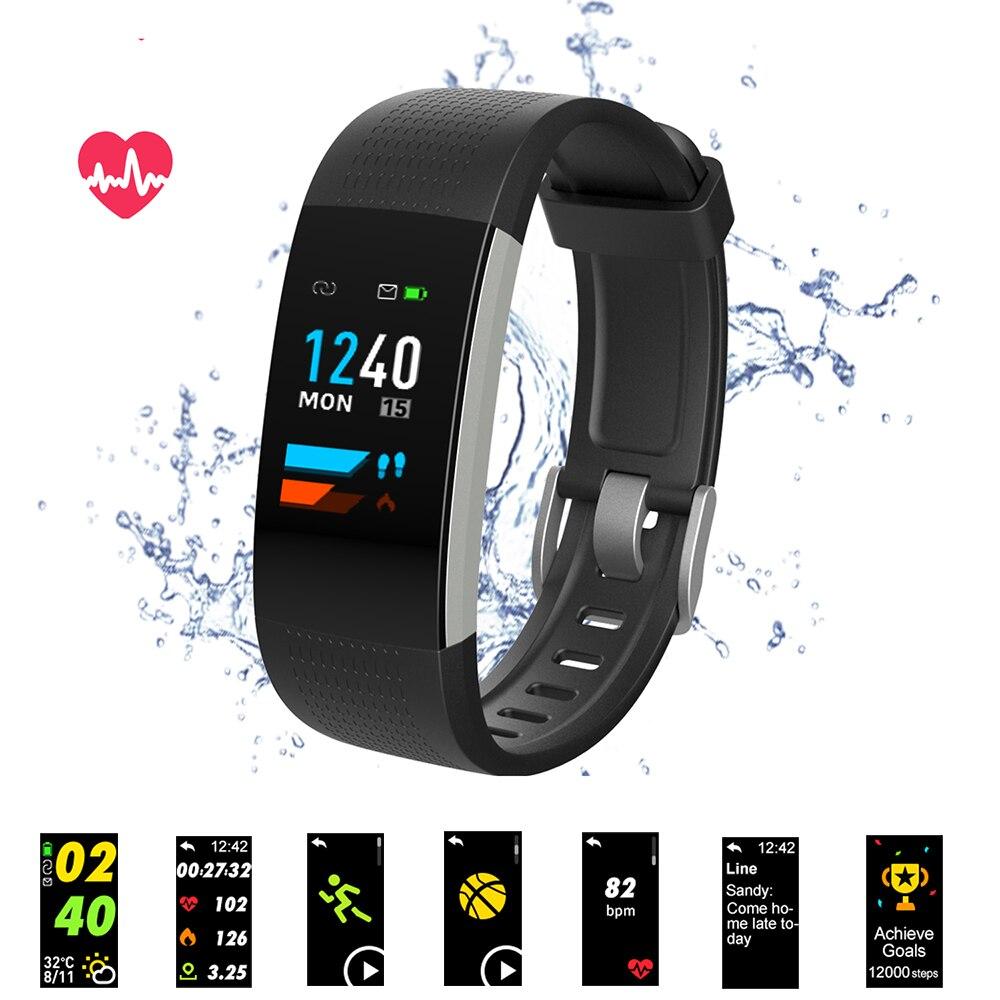 Bluetooth Smart Браслет Цвет Экран C20 Smart пульсометр крови Давление измерения Фитнес трекер Смарт-часы