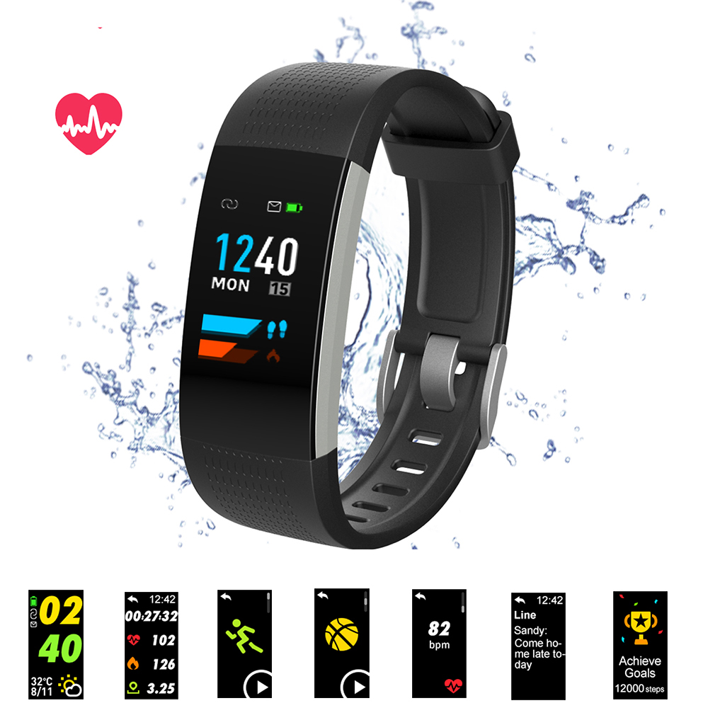 Bluetooth Smart Bracelet Color Screen C20 Smart band Heart Rate Monitor Blood Pressure Measurement Fitness Tracker Smart Watch
