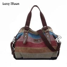 2015 Toile sacs à main top qualité femmes sacs à bandoulière designer totes épaule casual sac messenger sac couleur bloc grand totes