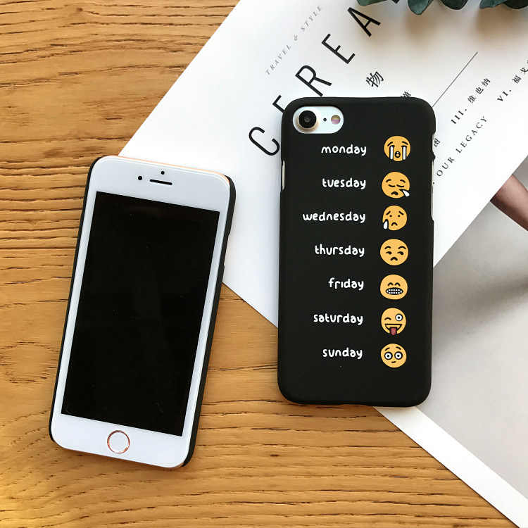 2018 New Arrival for Apple for Iphone 7 Plus 8 X Cute Smile And Cry Hard Pc Protective Back Cover for 6 Kawaii Expression Phone