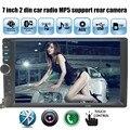 2 Din Автомобильный MP3 Плеер 7 дюймов 1080HD Сенсорный Экран Bluetooth Стерео Радио Плеер FM/MP5/USB/AUX Автомобиля вид сзади поддержка камера