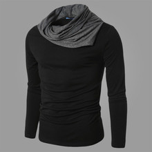 LEFT ROM Spring and autumn are pure cotton knitted men's business casual men high quality pure long sleeved Wool sweater