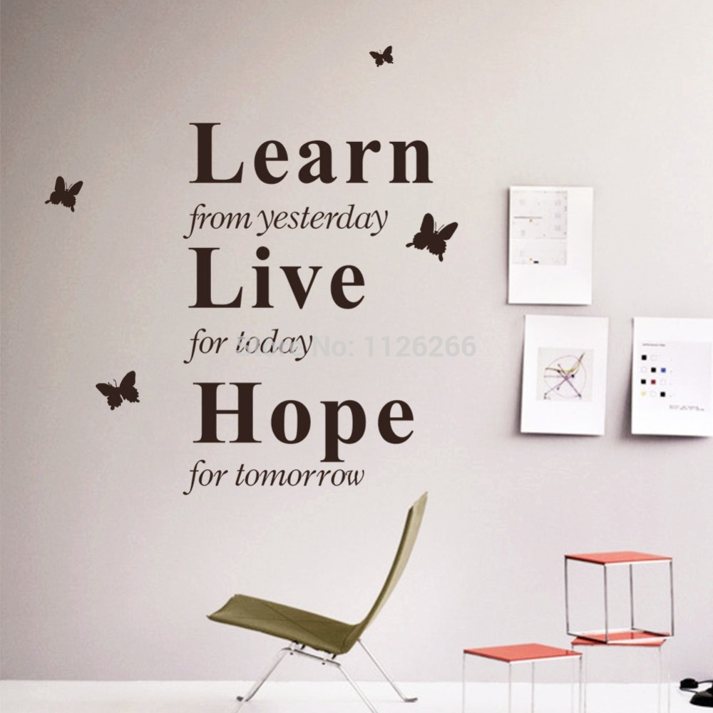 Superbe Decoration Art Wall Decals Inspirational Quotes Learn From