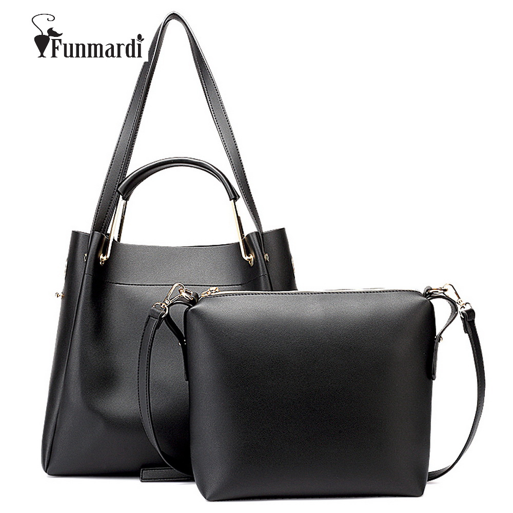 ФОТО Funmardi Fashion PU leather women handbag star style women bag brand designs female bags Trendy Handbag+Messenger Bag WLHB1500