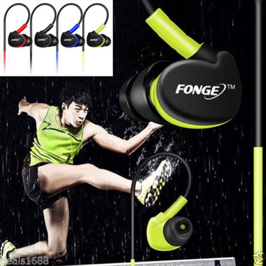 FONGE S500 auriculares deportivos estéreo para correr auriculares bajos HIFI impermeables con micrófono para Xiaomi Huawei Fone de ouvido