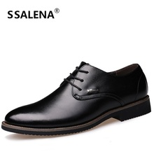 Men Pointed Toe Dress Shoes Soft Leather Party And Wedding Men Flats Spring Autumn Breathable Working Shoes AA40199