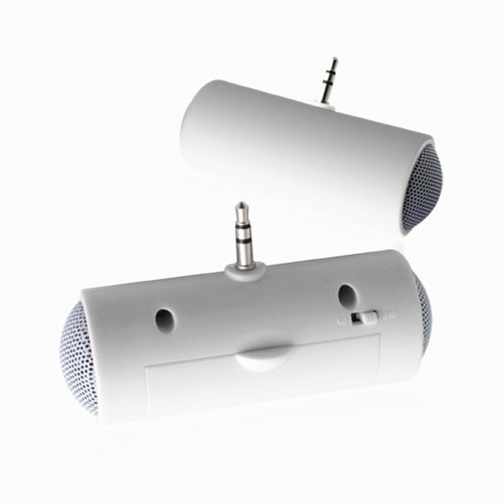 Newest Stereo Mini Speaker MP3 Player Amplifier Loudspeaker with 3.5mm connector for MP3 Smart Mobile Phone for iPhone iPod