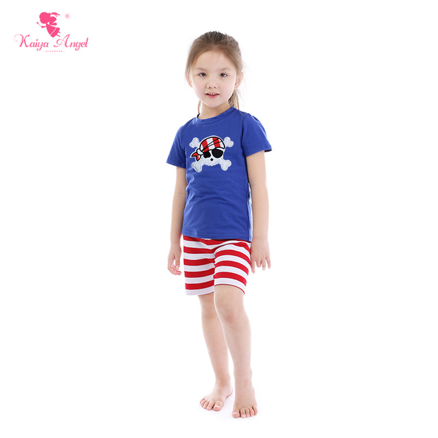 b19b765d87bc Kaiya Angel 4th Of July Children s Boutique Sets Toddler Girls Summer  Clothing Baby Boys Pirate Captain Blue Cotton Kids Clothes