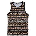 Cadena de Oro de la manera 3D Print Tank Tops Para Hombre de la Camiseta Transpirable adolescente Algodón Camiseta Floja Fresca Unisex Prendas De Vestir