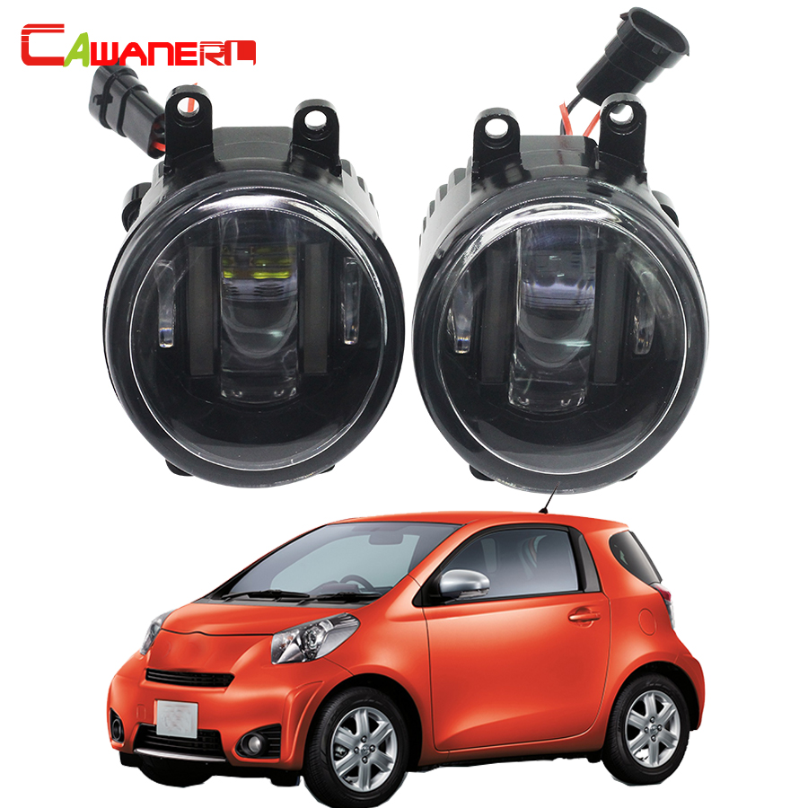 Cawanerl 1 Pair Car LED Fog Light DRL Daytime Running Lamp 12V For Toyota IQ Hatchback (KPJ1_, NGJ1_, KGJ1_, NUJ1_) 2009 Up cawanerl 1 pair car light led fog lamp drl daytime running light white 12v for subaru trezia hatchback 1 3 1 4d 2011 onwards