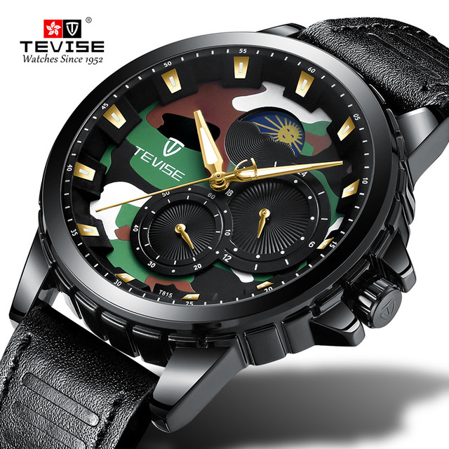 37a5a29f0d1 Hot Tvise Brand Men Mechanical Watch Fashion Luxury Clocks Man Watches  Automatic Gold Wristwatch Montre Homme Relogio Masculino
